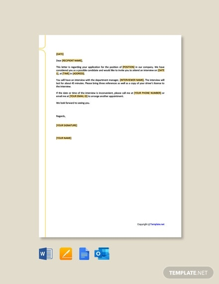 free hr invitation letter format