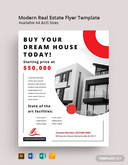 free modern real estate business flyer template