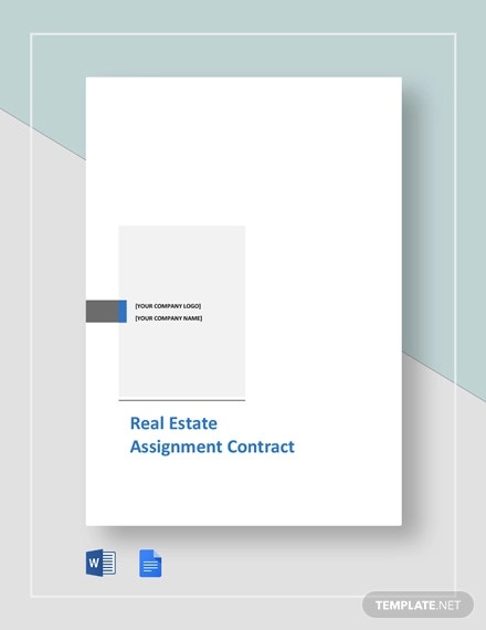 free sample real estate assignment contract template