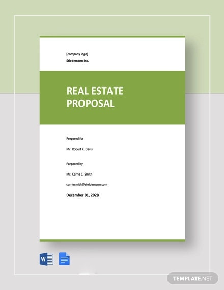 free sample real estate proposal template