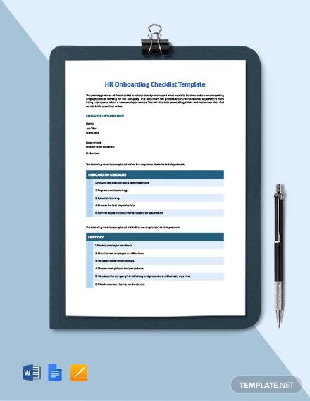 hr onboarding checklist template1