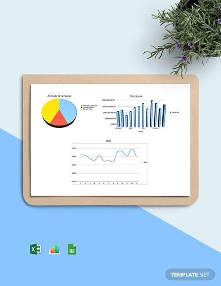 hr return on investment dashboard template1