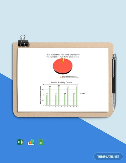 human resource ratio dashboard template1