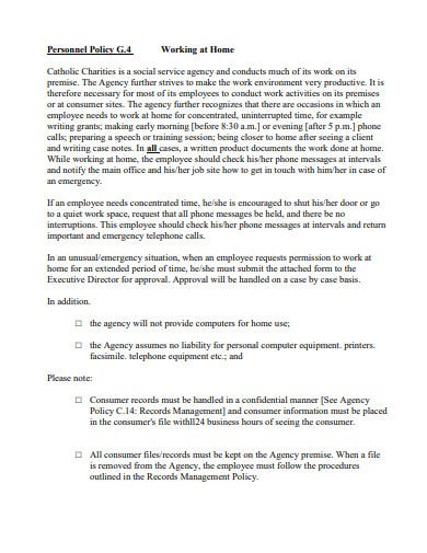 permission to work from home proposal template