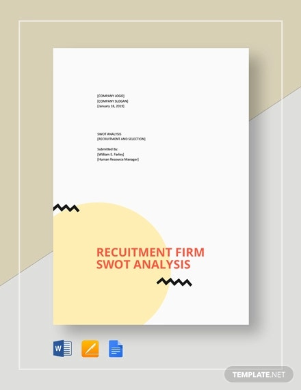 recruitment swot analysis template