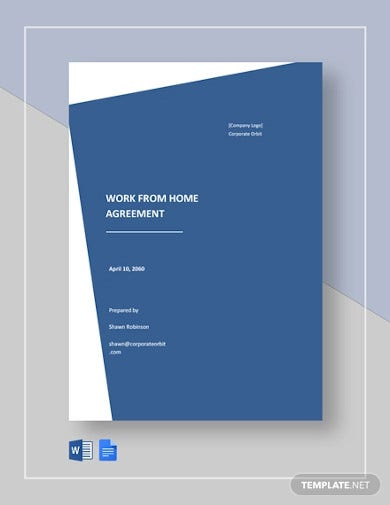 work from home agreement template1