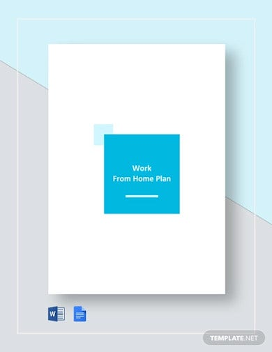work from home plan template