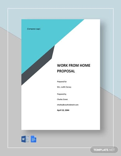 work from home proposal template