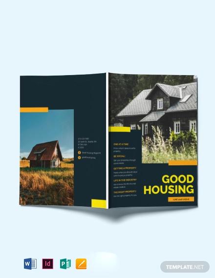 advertising real estate magazine template