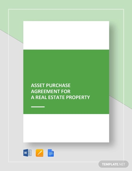 asset purchase agreement for a real estate property template1