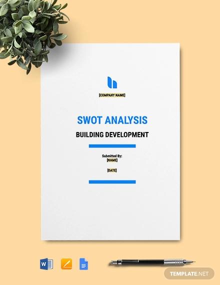 building development swot analysis template
