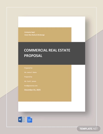 commercial real estate proposal template