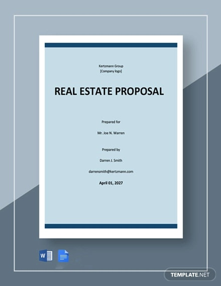 free basic real estate proposal template1