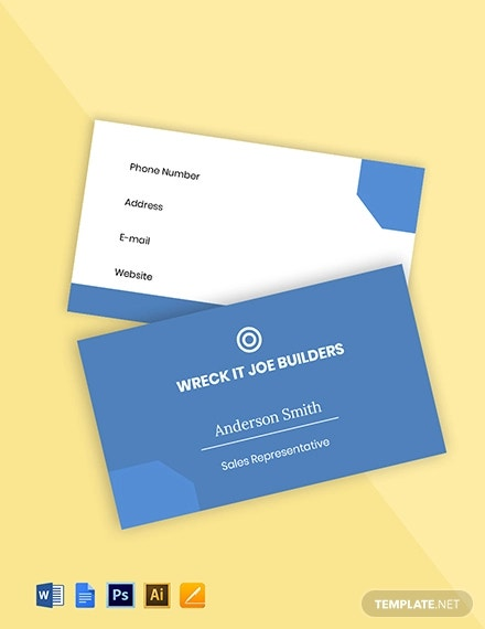 free flat real estate business card template1