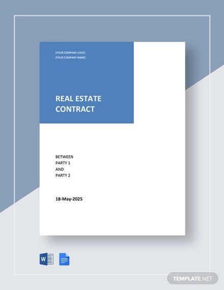 free sample real estate contract template