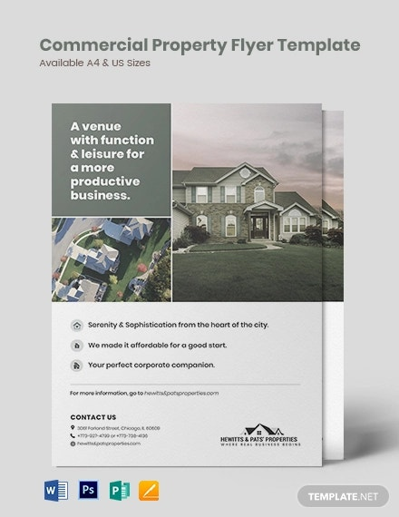 free simple commercial property flyer template
