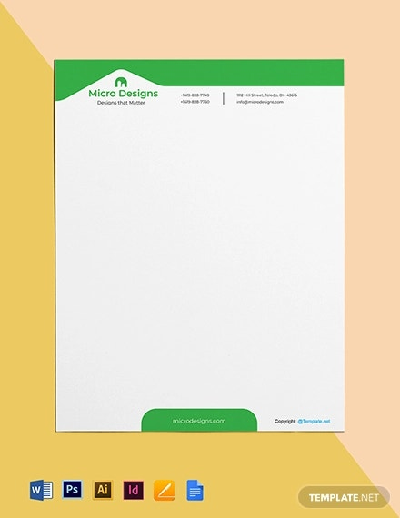 free simple real estate letterhead template1