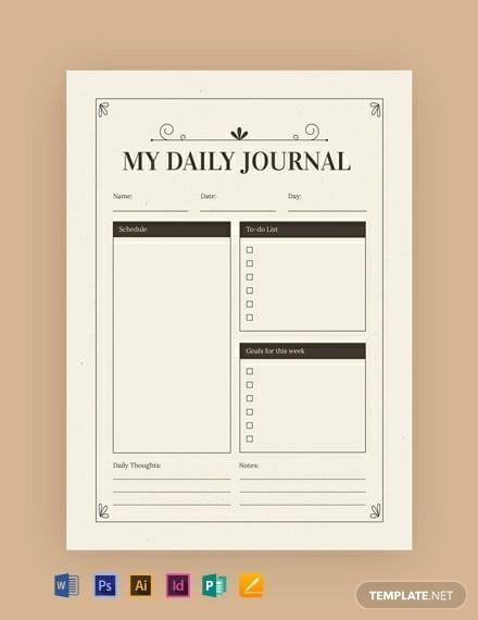 free vintage journal template