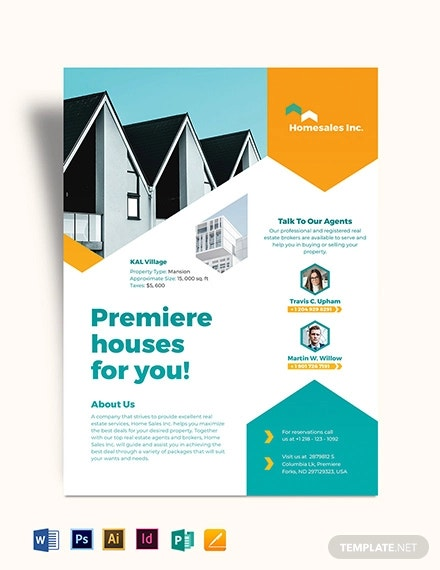 house for sale flyer template