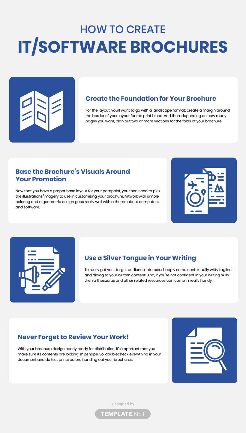 it and software brochure template