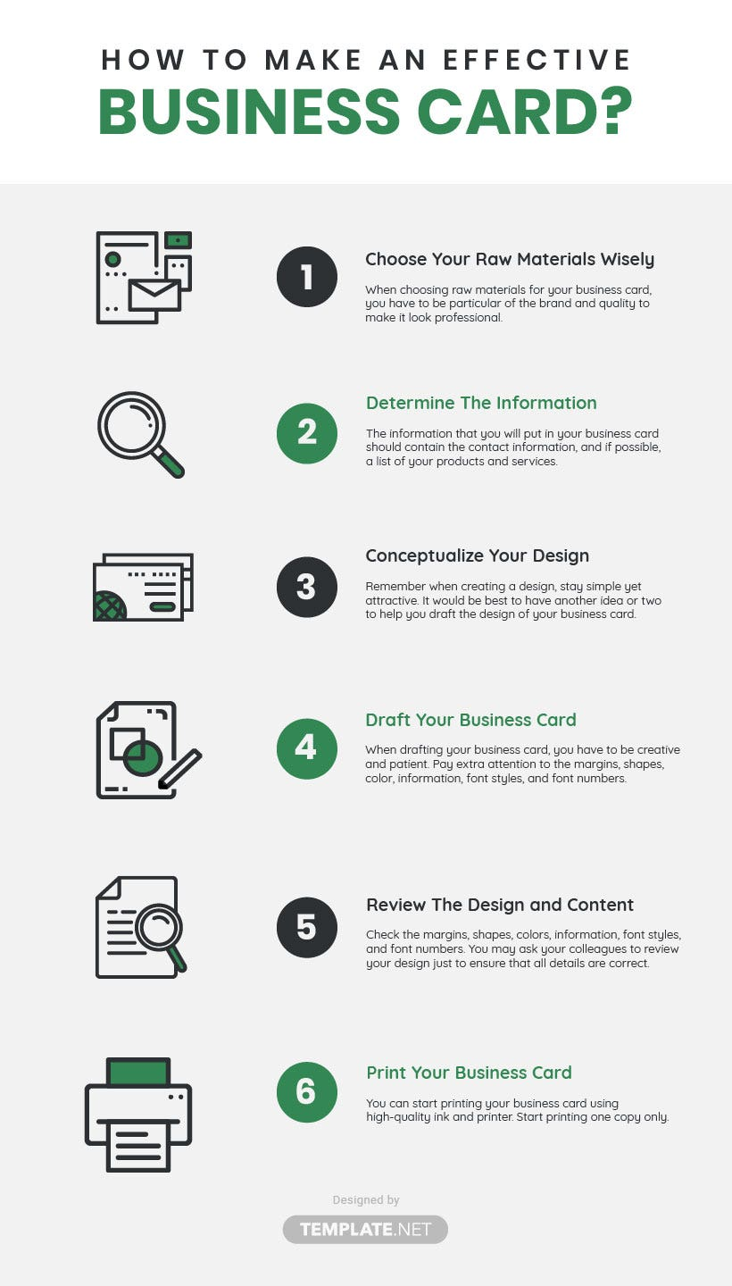 it and software business card template