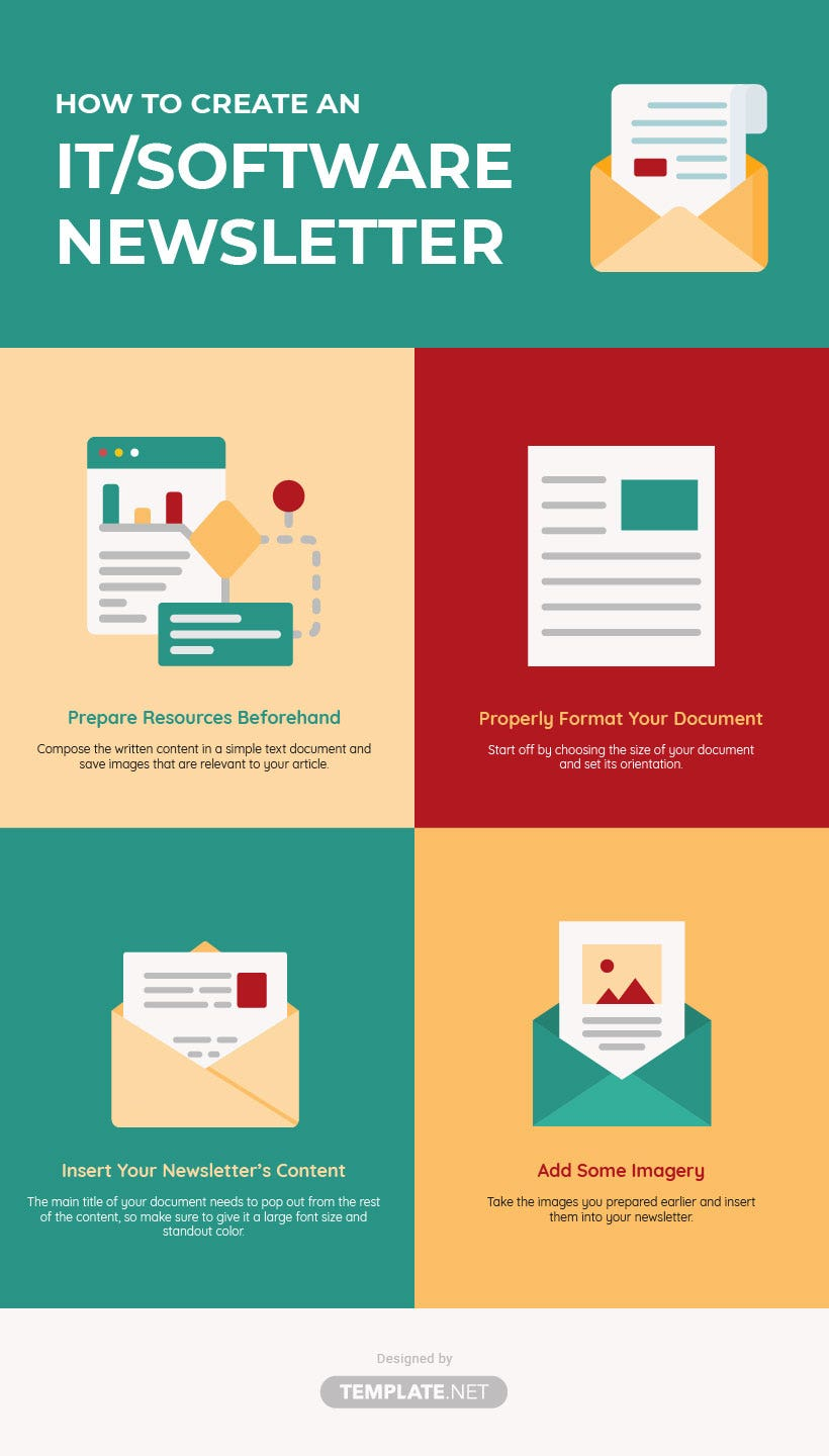 it and software newsletter template
