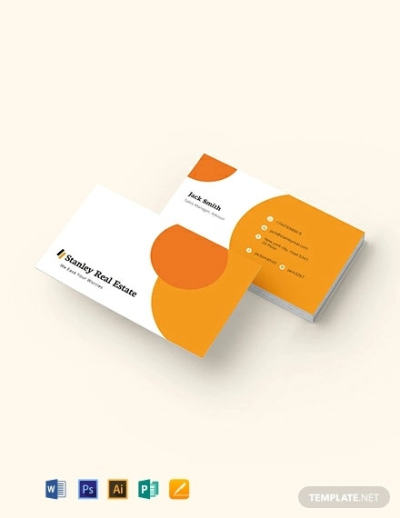 modern real estate business card template