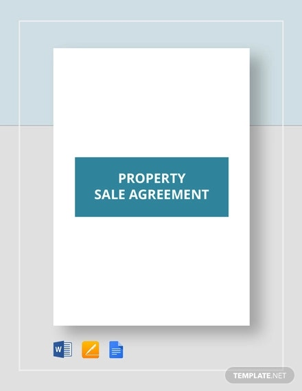 property sale agreement template1
