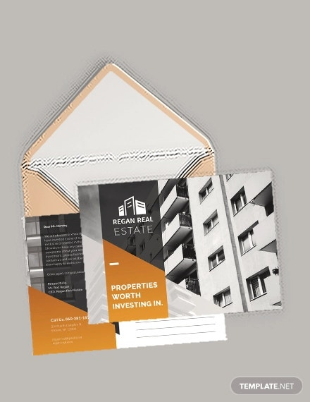 real estate advertising postcard template