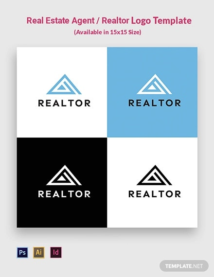 real estate agent realtor logo template