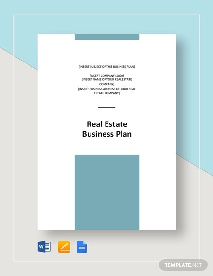 real estate business plan template