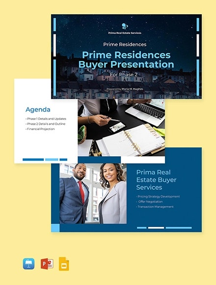 real estate buyer presentation template