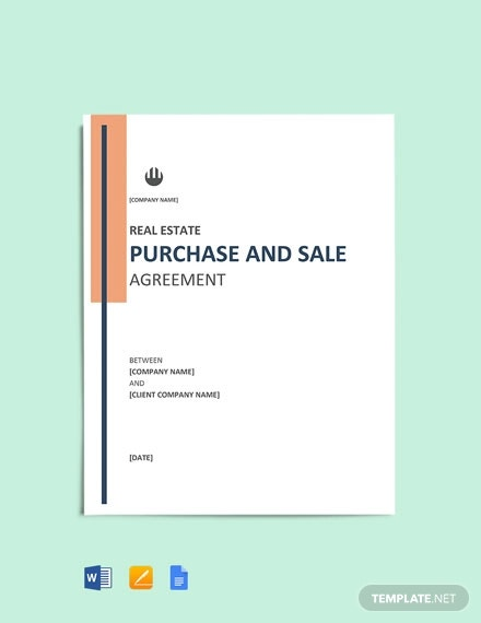 real estate purchase and sale agreement template
