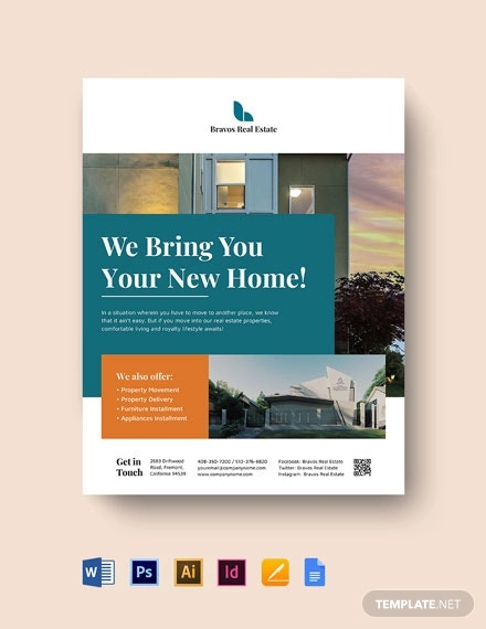 relocation real estate flyer template