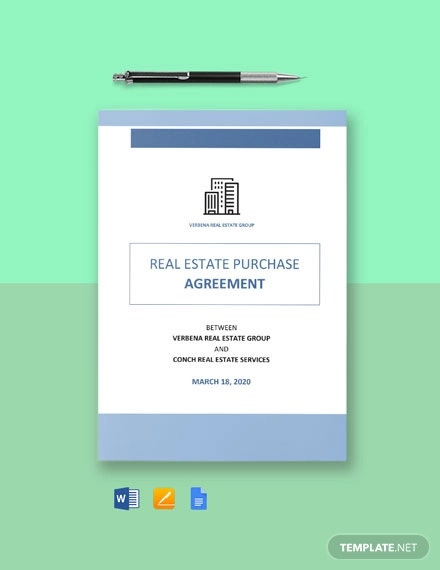 residential real estate purchase agreement template1