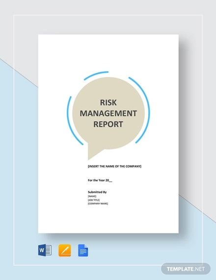 risk management report template