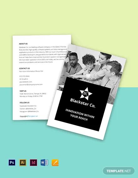 free bi fold creative software brochure template