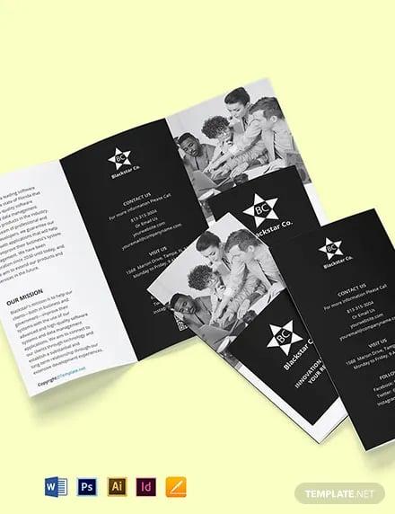 free tri fold creative software brochure template