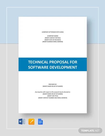 technical proposal for software development template