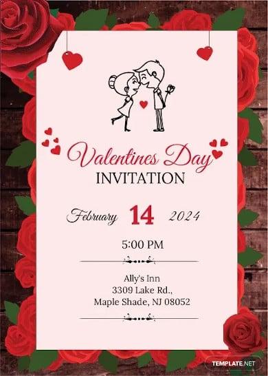 editable valentines day invitation