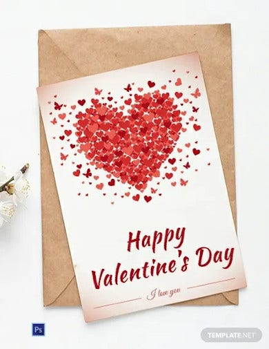 free happy valentines day greeting card
