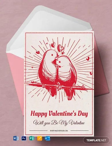free printable valentines day greeting card