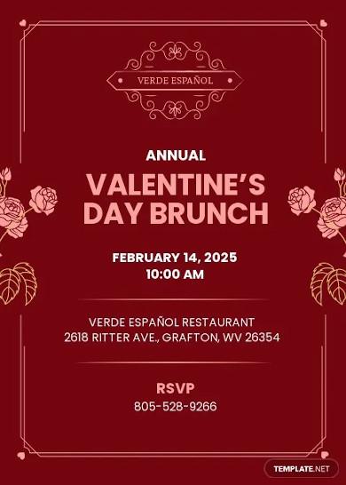 valentine brunch invitation template