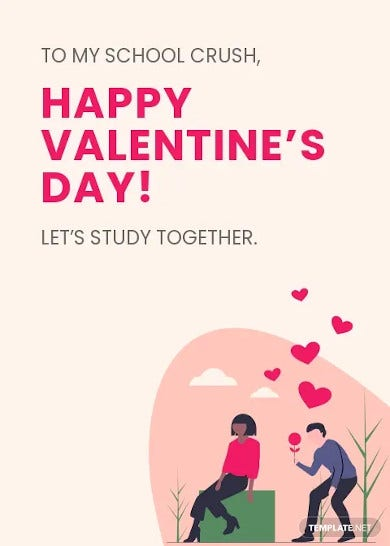 valentines day card for students