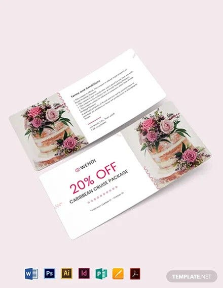 wedding planners coupon template 2