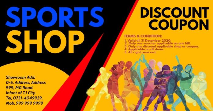 sports discount coupon card template design aafb5c2162793d91cc99c8f2e242cbe8